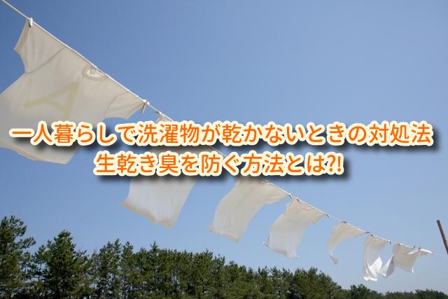 一人暮らしで洗濯物が乾かない時の対処法。生乾き臭を防ぐ方法とは⁈
